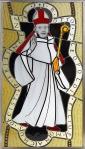 Neuschöpfung eines Glasfensters des Bischofs Otto von Freising - nach einem mittelalterlichen Fenster im brunnenhaus von Stift Heiligenkreuz